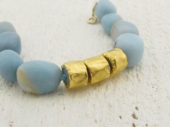 Amazonite & Gold Bracelet, 24k Solid Gold and Amazonite Beads Bracelet, Summer Jewelry