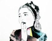 The blush -  A4 illustration print