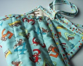 ON SALE Sock Monkey Crayon Roll- Holds 11 crayons