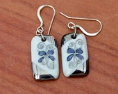 Porcelain Earrings With Sterling Silver Earwires, One-of-a-kind