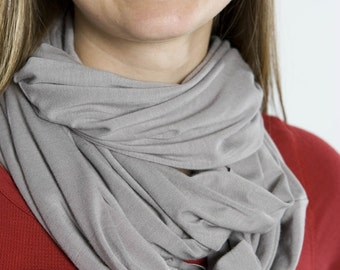 Infinity Scarf in Light Grey