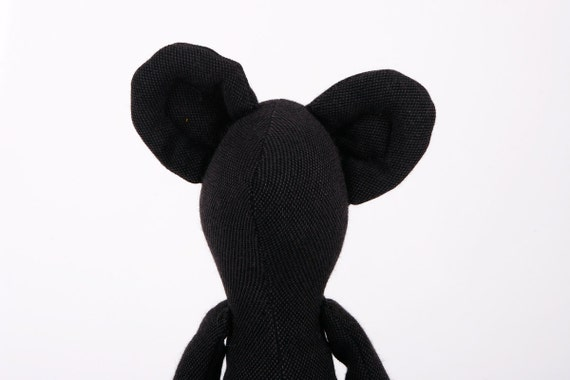Mouse -  Handmade  Black Friendly Mouse Doll