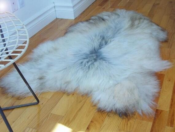 New Large Icelandic Sheepskin Throw Pelt By