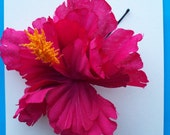Hot-Pink Hibiscus Hair Accessory
