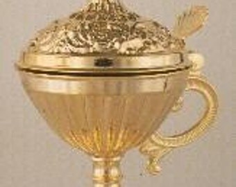 Orthodox Censer From Brass Goldplated 13 cm