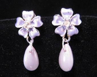 Reclaimed Vintage Earrings, Vintage Earring Assemblage, Bridesmaid Gift, Purple, Lavender, Jennifer Jones, Under 20, SALE - Sweet Violets II