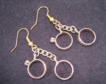 Reclaimed Vintage Earrings, Statement Earrings, Wedding Earrings, Gold Wedding Rings, Under 25 - I Do