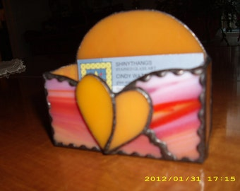 Orange Sorbet Bizness Card Holder