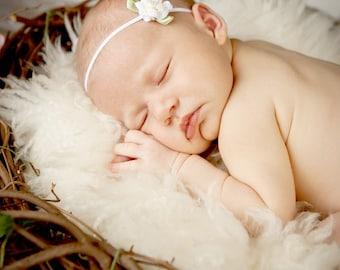 Baby headband, newborn headband, adult headband, child headband and photography prop SALE The single sprinkled- Rose headband