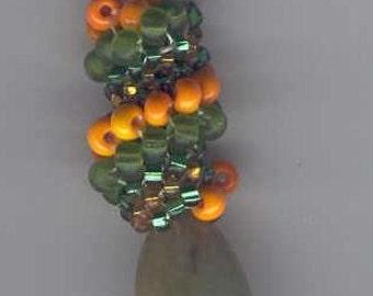 Green Aventurine Spiral Pendant