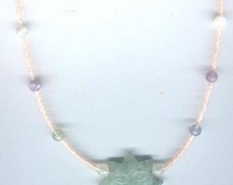 Green Aventurine Fluorite Necklace