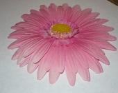 Pink Gerber Daisy Hair Clip