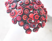 Sale, Wedding Button Bouquet, Cherry Berry - ready to ship
