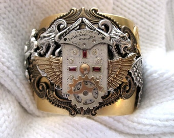 Rubies in Time Vintage Watch Cuff