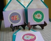 Round Blooms Cards 3 Pack