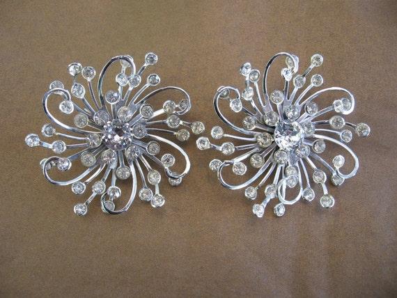 Vintage Sarah COVENTRY Clear Rhinestone Earrings