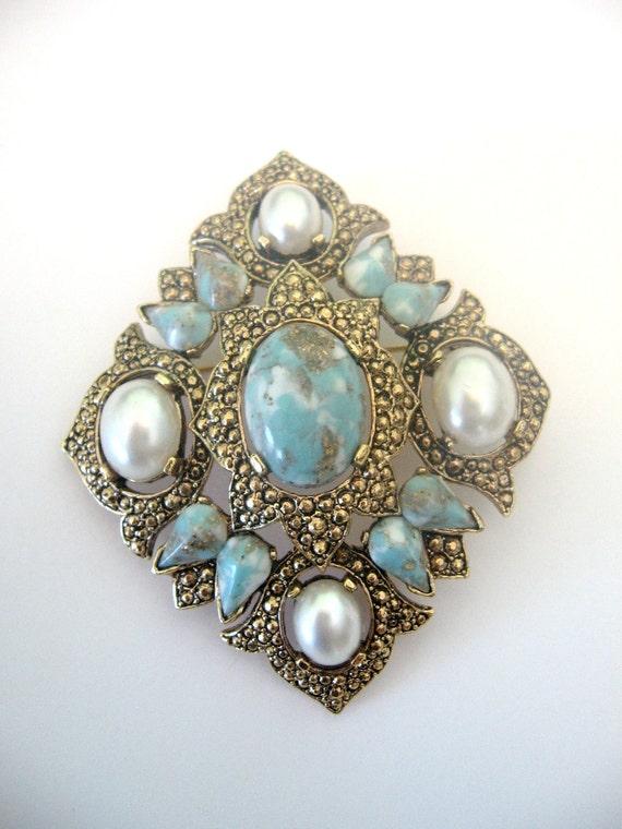"SALE - Vintage Sarah COVENTRY Brooch Pendant ""Remembrance"""