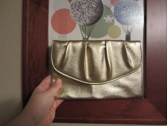 Gold Clutch - authentic vintage