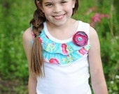 Sugar Blossoms...Ruffle Tank...Sizes 18mos to 10...sweet tea for kids