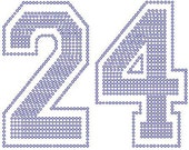 SALE team number numbers iron on rhinestone transfer CLEARANCE