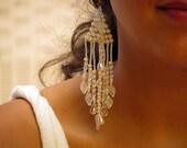 WOODSTOCK Chandelier Beaded  Sparkling Earrings
