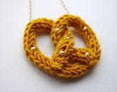 Kitsch Knitted Pretzel Necklace