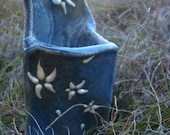 Blue and pearl flower Decor flower Vase