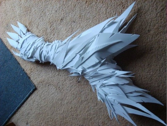 White feather foam arm glove