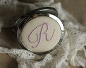 hand-embroideried handmade retro compact mirrors ----personalized order to make