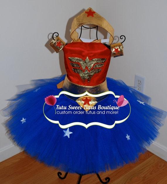 Super Hero costume set- custom order- handmade-sewn tutu- red white blue-