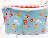 Toyland Deer Mushroom Japan Style Makeup E-reader Gadget Clutch Pouch Bag hearts lining valentines day