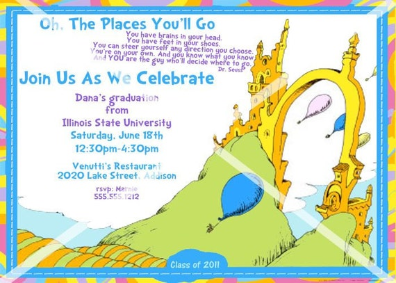 Nifty image with regard to oh the places you'll go printable
