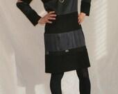Silk and Wool Striped Dress