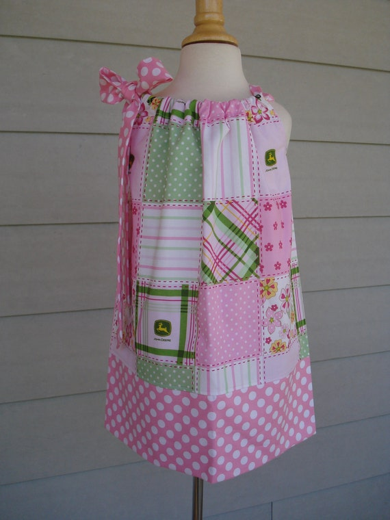 Girls Pillowcase Dress baby John Deere by Baby Harrill LAST ONE