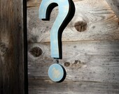 Question Mark Housewares Home Decor Wall Hanging Woodworking Sign Symbol Books French Country