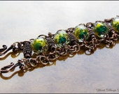 CUSTOM  - THE DRAGON Bracelet - Copper and Bronze Handmade Artisan Jewelry