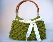 Crocodile Green Special Knitting Handbag-Shoulder Bag-Verdant-Olive Green-Forestgreen-