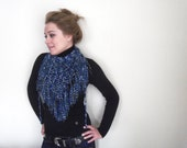 Special Scarf-Shawl-Blue-Navyblue-white