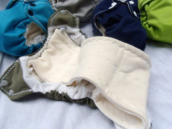 Newborn All-in-two organic cloth diaper   Fancy Cloth Baby