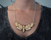 Wooden Luna Moth choker or Necklace