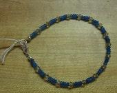 Faceted neon apatite & crystal bracelet, sterling