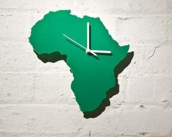 Africa clock (Green)