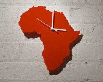 Africa clock (Red)