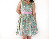 Sale - 20 % Vintage roses dress size M ready to ship