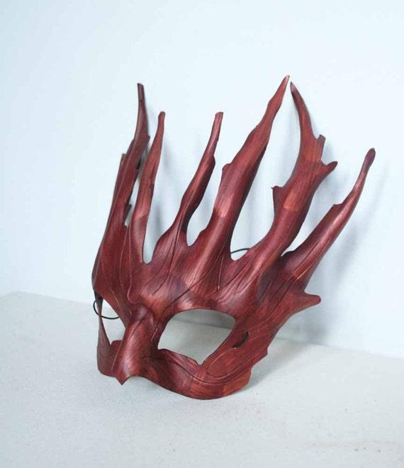 Druid Mask Tree Spirit - leather mask