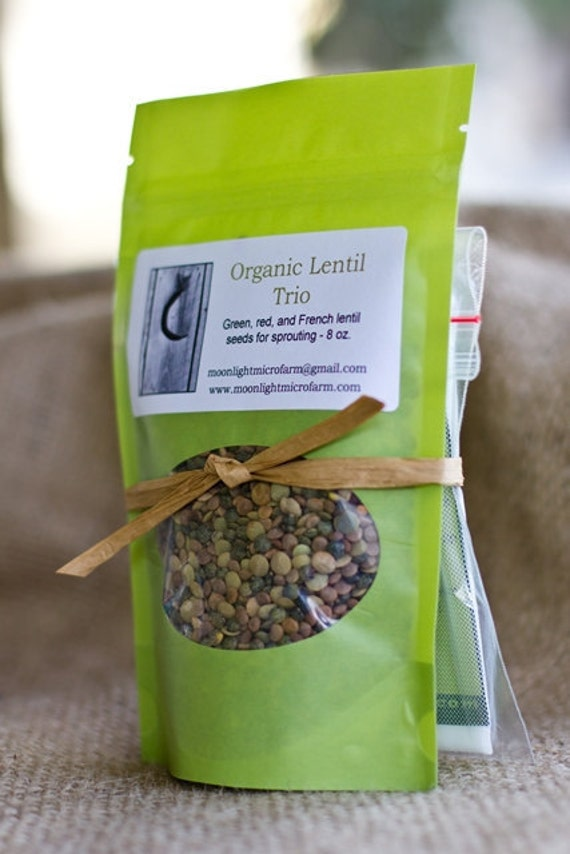 Lentil Sprouting Kit, Organic Sprouting Seeds, Nut milk, Cheese, & Sprouting Bag