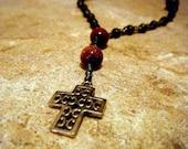Brown Goldstone Anglican Prayer Beads