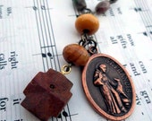 Saint Francis Fairy Stone - Staurolite, Fancy Jasper, and Bethlehem Olive Wood Anglican - Episcopal Rosary - Prayer Beads