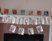 WITCHES BREW Halloween Banner Bunting