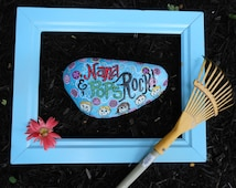 Jez4U Custom Hand painted Garden Rock for Nana and Pops ROCK Special ORder
